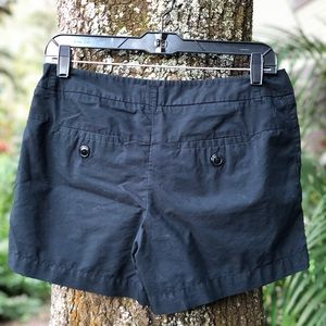 Mossimo Shorts Black 6 Button Pleated Pockets